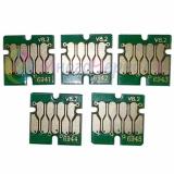 Чипы для Epson SureColor SC-T3000, SC-T3200, SC-T5000, SC-T5200, SC-T7000, SC-T7200 (для перезаправляемых картриджей ПЗК/ДЗК), комплект 5 цветов (T6941-T6945), не обнуляемые, 7-серийные