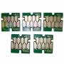 Чипы для Epson SureColor SC-T3000, SC-T3200, SC-T5000, SC-T5200, SC-T7000, SC-T7200 (для перезаправляемых картриджей ПЗК/ДЗК), комплект 5 цветов, не обнуляемые, 7-серийные