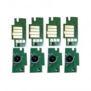Чипы для ПЗК к Canon imagePROGRAF PRO-4000S, PRO-4100S, PRO-6000S, PRO-6100S (под картриджи PFI-1700, PFI-1300, PFI-1100), не обнуляемые, комплект 8 цветов
