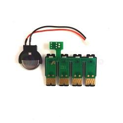 Чип к СНПЧ для для Epson Workforce, совместимых с картриджами T2521, T2522, T2523, T2524, с кнопкой сброса (планка чипов)