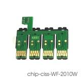 Чип к СНПЧ для Epson WorkForce WF-2010W, WF-2510WF, WF-2630WF, WF-2750DWF, WF-2530WF, WF-2540WF, WF-2520NF, WF-2650DWF, WF-2660DWF (под картриджи 16 T1631-T1634) с кнопкой сброса  (планка чипов)