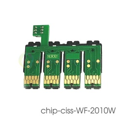 Чип к СНПЧ для Epson WorkForce WF-2010W, WF-2510WF, WF-2630WF, WF-2750DWF, WF-2530WF, WF-2540WF, WF-2520NF, WF-2650DWF, WF-2660DWF (под картриджи № 16 T1631-T1634) с кнопкой сброса  (планка чипов)