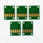 Чипы для СНПЧ и ПЗК для Canon PIXMA iP7240, MG5440, MG5540, MG6440, MG5640, MG6640, MX924, iX6840, не обнуляемые PGI-450, CLI-451), комплект 5 цветов