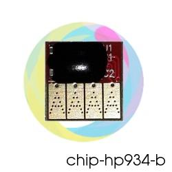 Чип 934 Black для перезаправляемых картриджей (ПЗК) и СНПЧ для HP Officejet Pro 6230, 6830, 6815, 6835 (под HP 934, чёрный)
