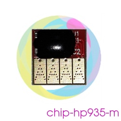 Чип 935 Magenta для перезаправляемых картриджей (ПЗК) и СНПЧ для HP Officejet Pro 6230, 6830, 6815, 6835 (под HP 935, пурпурный)