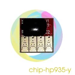 Чип 935 Yellow для перезаправляемых картриджей (ПЗК) и СНПЧ для HP Officejet Pro 6230, 6830, 6815, 6835 (под HP 935, жёлтый)