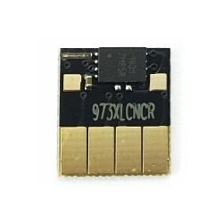 Чип для картриджей (ПЗК/ДЗК) к HP PageWide Pro 452dw D3Q16B, 477dw D3Q20B, 452dn, 477dn, 552dw, 577dw, 577z, P55250dw, P57750dw (совм. HP 973X - F6T81AE / 972X, 974X, 975X), автоматически обнуляемый, голубой Cyan