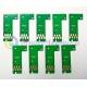 Чипы для картриджей (ПЗК/ДЗК) для Epson SureColor SC-P800, авто обнуляемые, комплект 9 цветов