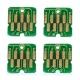 Чипы для Epson SureColor SC-F6000, SC-F6200 nK, SC-F7000, SC-F7100, SC-F7200 nK, SC-F9200 nK/HDK (T7411-T7414), одноразовые, комплект 4 цвета