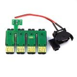 Чип к СНПЧ для Epson Colorio PX-045A, PX-046A, PX-047A, PX-105, PX-405A, PX-435A, PX-436A, PX-437A, PX-505F, PX-535F (ICBK69, ICC69, ICM69, ICY69), планка чипов с кнопкой сброса