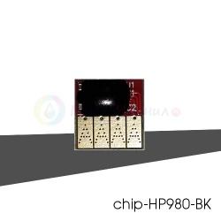 Чип черный (black) на картридж № 980 для HP Officejet Enterprise X585z, Color X555dn, X555xh, X585dn, X585f, совместимый