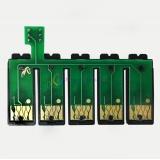 Чип для СНПЧ к Epson PX-1001, PX-1004, PX-1004C6, PX-1004C9 (картриджи ICBK59, ICC59, ICM59, ICY59), планка чипов с кнопкой сброса, 5 цветов