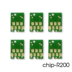 Чипы для ПЗК и СНПЧ на Epson Stylus Photo R200, R220, R300, R320, R340, RX600, RX620, RX640, RX500, комплект 6 цветов