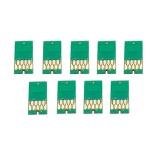 Чипы для картриджей (ПЗК/ДЗК) для широкоформатных принтеров Epson SureColor SC-P6000, SC-P8000 + модели Spectro (T8041-T8049), комплект 9 цветов