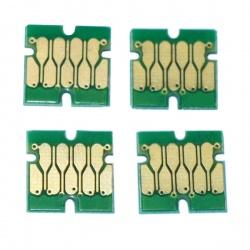 Чипы к ПЗК для Epson SureColor SC-F2000, SC-F2100 (4-цветные модели), одноразовые, комплект 4 цвета