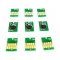 Чипы для Epson SureColor SC-P600 (для перезаправляемых картриджей, совм. T7601-T7609), авто обнуляемые, комплект 9 цветов