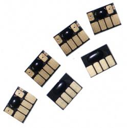 Чипы для картриджей HP Designjet 130, 90, 130NR, 30 (картриджи HP 84 и 85), комплект 6 шт.