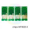 Чипы для картриджей ПЗК к Epson WorkForce Pro WP-4020, WP-4540, WP-4530, WP-4023, WP-4010, WP-4090, WP-4520, WP-4533, WP-4590 авто обнуляемые (T6761, T6762, T6763, T6764) 4 цвета