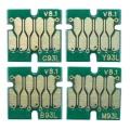 Чипы для перезаправляемых картриджей к Epson WorkForce Pro WF-8590DWF, WF-8090DW (T7551-T7554), одноразовые, комплект 4 цвета