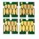 Чипы для Epson WorkForce Pro WF-C8190DW, WF-C8690DWF (под ориг. T04A1-T04A4 / T04B1-T04B4 / T04C1-T04C4), для ПЗК (перезаправляемых картриджей), одноразовые, комплект 4 цвета