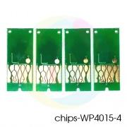 Чипы для картриджей ПЗК к Epson WorkForce Pro WP-4015DN, WP-4095DN, WP-4515DN, WP-4525DNF, WP-4595DNF (под экстра-большие T7011, T7012, T7013, T7014), авто обнуляемые, комплект 4 цвета