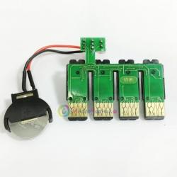 Чип к СНПЧ для Epson Expression Home XP-423, XP-323, XP-313, XP-413 с обновленной прошивкой с кнопкой сброса (планка чипов)