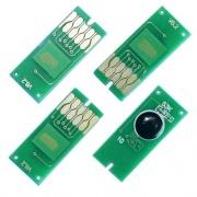 Чипы для картриджей ПЗК к Epson WorkForce Pro WF-5110DW, WF-4630DWF, WF-4640DTWF, WF-5190DW, WF-5690DWF + WF-5620DWF с ограничениями (T7901-T7904), авто обнуляемые, комплект 4 цвета