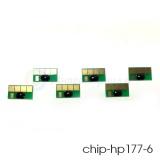 Чипы 177 для ПЗК и СНПЧ для HP Photosmart C5183, C6283, D7163, 8253, D7263, C7283, 3213, D7463, 3313, D7363, C6183, C8183, C7183, комплект 6 цветов, неоригинальные