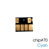 Чип для картриджей (ПЗК/ДЗК) HP 70 Cyan для DesignJet Z2100, Z5200, Z5400 (авто обнуляемый), независимый, голубой
