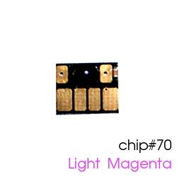 Чип для картриджей (ПЗК/ДЗК) HP 70 Light Magenta для DesignJet Z2100, Z5200 (авто обнуляемый), независимый, светло-пурпурный