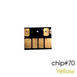 Чип для картриджей (ПЗК/ДЗК) HP 70 Yellow для DesignJet Z2100, Z5200 (авто обнуляемый), независимый, жёлтый