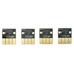 Чипы для картриджей (ПЗК/ДЗК) к HP PageWide Pro 452dw D3Q16B, 477dw D3Q20B, 452dn, 477dn, 552dw, 577dw, 577z, P55250dw, P57750dw (совм. HP 973X - L0S07AE, F6T81AE, F6T82AE, F6T83AE / 972X, 974X, 975X), автоматически обнуляемые, комплект 4 цвета
