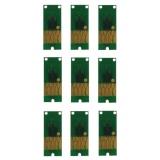 Чипы для Epson SureColor SC-P600 (для перезаправляемых картриджей, совм. T7601-T7609), авто обнуляемые, прямоугольные, комплект 9 цветов