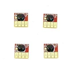 Чипы 711 для ПЗК и СНПЧ на HP Designjet DJ T120, T125, T130, T520, T525, T530 (под картриджи CZ129A, CZ130A, CZ131A, CZ132A), комплект 4 шт.
