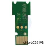 Чип для LC3617BK, LC3619XLBK Black для картриджей Brother MFC-J3930DW, MFC-J3530DW, одноразовый, без ограничений, совместимый, для черных чернильниц