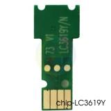 Чип для LC3617Y, LC3619XLY Yellow для картриджей Brother MFC-J3930DW, MFC-J3530DW, одноразовый, без ограничений, совместимый, для желтых чернильниц