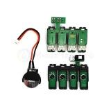 Чип для СНПЧ к Epson Expression Home XP-330, XP-340, XP-440, XP-430, XP-434, XP-446 (картриджи T2881-T2884), с кнопкой, чиповая планка с ограничением на 20 сбросов
