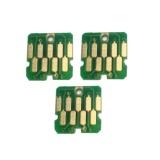 Комплект чипов для памперса к Epson SureColor SC-T3200, SC-T5200, SC-T7200, SC-T3000, SC-T5000, SC-T7000, SC-B6000, SC-F6000, SC-S50610, SC-S70610, SC-P10000, SC-P20000 (для емкости с отработанными чернилами), не обнуляемые, одноразовые, 3 шт