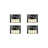 Чипы для HP DesignJet T730, T830 (совместимость по 728 F9J68A, F9J67A, F9J66A, F9J65A), одноразовые, комплект 4 цвета