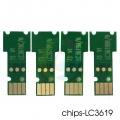 Чипы для LC3617, LC3619XL для картриджей Brother MFC-J3930DW, MFC-J3530DW, однор..