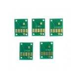 Чипы к ПЗК и СНПЧ для Canon PIXMA MG5750, TS6050, TS5050, MG6850, MG5751, MG5752, MG5753, TS6051, TS6052, TS5051, TS5053, TS5055, MG6851, MG6852, MG6853 (совм. PGI-570, CLI-571), автоматически обнуляемые, комплект 5 цветов