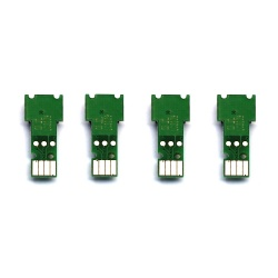Чипы для картриджей Brother MFC-J5945DW, MFC-J6945DW, HL-J6000DW (совм LC3237, LC3239XL), одноразовые, длинные, набор 4 цвета