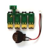 Чип к СНПЧ для Epson Expression Home XP-315, XP-202, XP-325, XP-215, XP-412, XP-205, XP-312, XP-102, XP-30, XP-415, XP-302, XP-402, XP-305, XP-405, XP-225, XP-425, XP-322, XP-422 с кнопкой сброса под картриджи №18 (Европа)  (планка чипов)