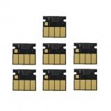 Чипы для картриджей HP 831C для HP Latex 310, 315, 330, 335, 360, 365, 370, 375, 560, 570, одноразовые, неоригинальные, комплект 7 штук (6 цветов + оптимизатор)