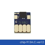 Чип для HP PageWide 352dw J6U57B, 377dw J9V80B, Pro 452dw, 477dw, 452dn, 477dn, 552dw, 577dw, 577z, P55250dw, P57750dw (совм. 913A F6T77AE), автоматически обнуляемый, увеличенный ресурс как 973X, голубой Cyan, версия 12, работает с всеми прошивками