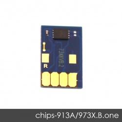 Чип для HP PageWide Pro 452dw, 477dw, 452dn, 477dn, 552dw, 577dw, 577z, P55250dw, P57750dw (совм. HP 913A, 973X Black черный), одноразовый, увеличенный ресурс как 973X, работает с всеми прошивками