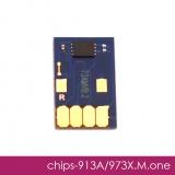 Чип для HP PageWide Pro 452dw, 477dw, 452dn, 477dn, 552dw, 577dw, 577z, P55250dw, P57750dw (совм. HP 913A, 973X Magenta пурпурный), одноразовый, увеличенный ресурс как 973X, работает с всеми прошивками