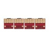 Чипы для картриджей (ПЗК/СНПЧ) к HP PageWide Pro 777z, 772dn, 750dw, Color 774dn, 755dn, 779dn (991X M0K02AE, M0J90AE, M0J94AE, M0J98AE, 991A), авто обнуляемые, комплект 4 цвета