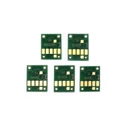 Чипы для Canon PIXMA TS6150, TS6250, TS9550, TS9551C, TR7550, TR8550 (PGI-580/CLI-581), для картриджей/ПЗК/СНПЧ, не обнуляемые, комплект 5 цветов