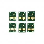 Чипы для Canon PIXMA TS8150, TS8250, TS9150 (PGI-580/CLI-581), для картриджей/ПЗК/СНПЧ, не обнуляемые, комплект 6 цветов